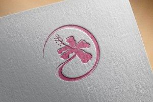 Circle Sweet Pink Flower Symbol