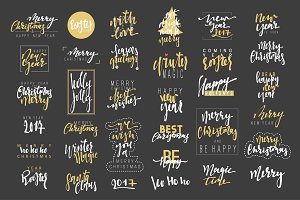 Calligraphy text Christmas