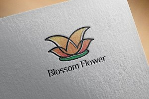 Bright Beautiful Blossom Flower Logo