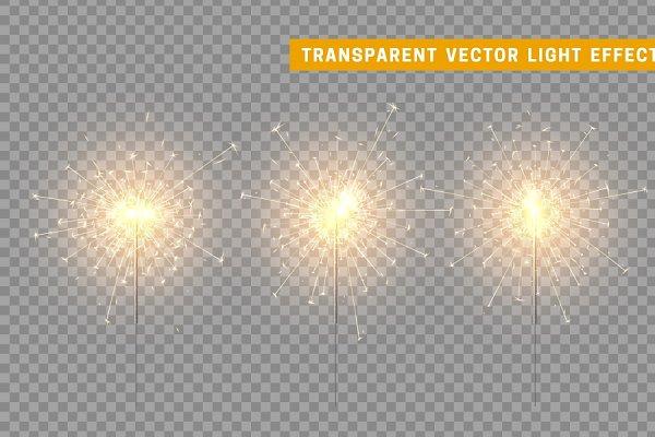 Sparklers vector