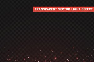 Transparent vector light effect red.