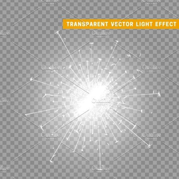 White light effect. Sparkler - Graphics