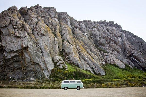 VW Bus Morrow Bay