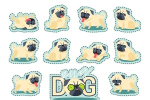 Sticker cute Pet dog