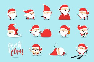 Santa Claus collection of Christmas