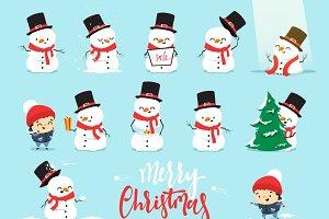 Xmas character (snowman)