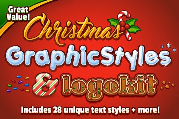 Christmas Graphic Styles & Logo Kit
