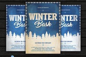 Vintage Winter Bash Flyer