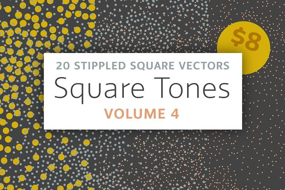 Square Tones Vol. 4 | 20 Halftones - Textures