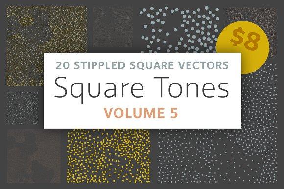 Square Tones Vol 5 20 Halftones