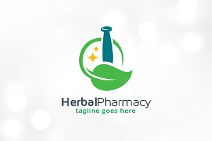 Herbal Pharmacy Logo Template