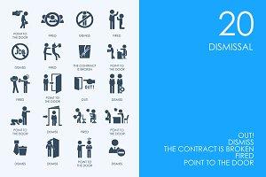 Dismissal icons
