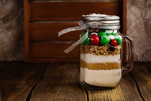 Cookie mix as a Christmas gift