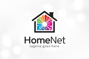Home Network Logo Template
