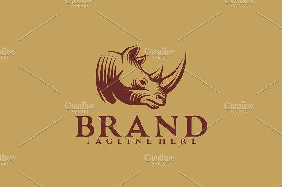 rhino retro logo logo templates creative market