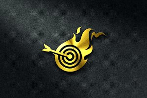 Hot Target Logo Template