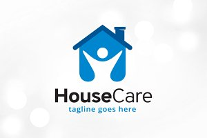 House Care Logo Template