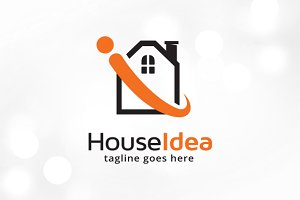 House Idea Logo Template