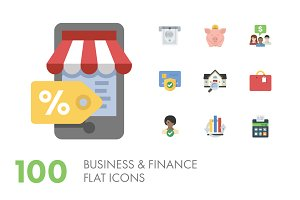 100 Business & Finance Icons