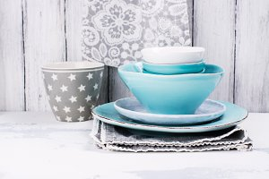 Bright ceramic bowls