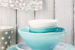 Bright ceramic bowls