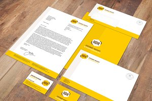 European A-Format Stationery Mockup
