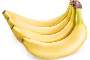 Bananas isolated on a white