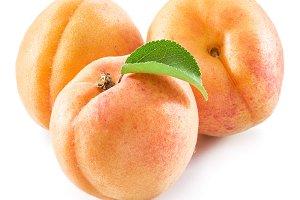 Ripe apricot fruits