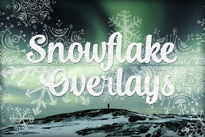 Grungy Textured Snowflake Overlays