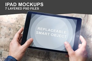 iPad Air Mockup Set - 7 Photo PSD