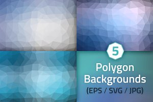 Polygon Backgrounds - Winter Colors