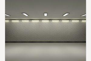 Loft room 3D rendering
