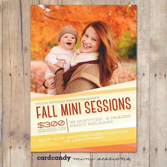 fall mini session template flyer templates creative market