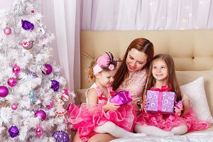 Mother of two daughters. Christmas