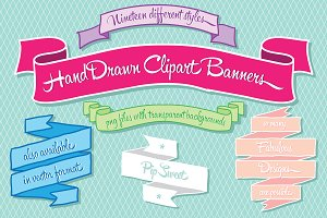 Hand Drawn Clipart Banners