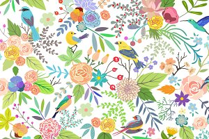 Calendar 2015. Flowers & Birds