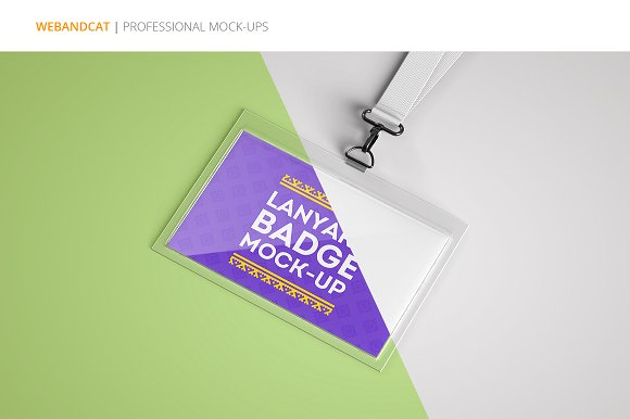 lanyard name tag badge mockup product mockups creative market