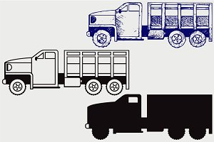 Military truck SVG