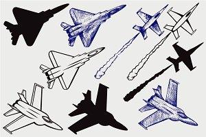 Warplane fighter SVG