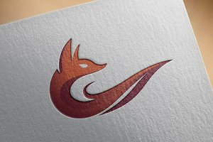 Abstract Fire Fox Modern Elegant
