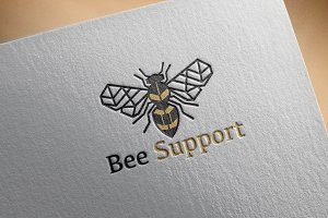 Bee Support Logo Template