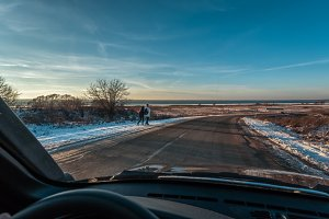 turn on the winter road