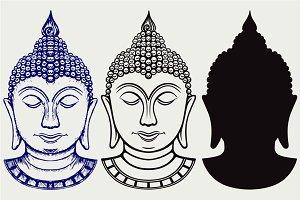 Buddha portrait SVG