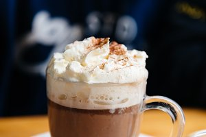 Chocolate milshake with cream