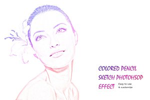 Colored Sketch Photoshop Effect