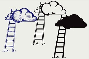 Ladder to clouds SVG