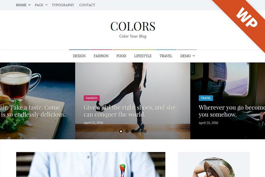 Colors - WordPress Theme ~ WordPress Blog Themes ~ Creative Market fd0f09611dc