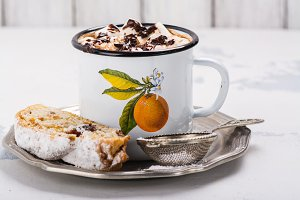 Hot chocolate and stollen