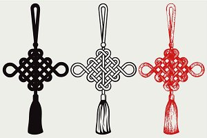Chinese knot SVG