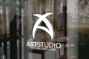 Art Studio - Letter A Logo